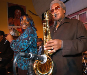 Bobby Webb blows the sax on a Saturday night jam session. Headlined by the Bay Area Blues Society, local artists show us what they have every Saturday night.