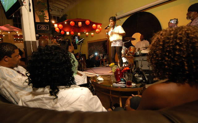 The intimate setting of Q's Lounge