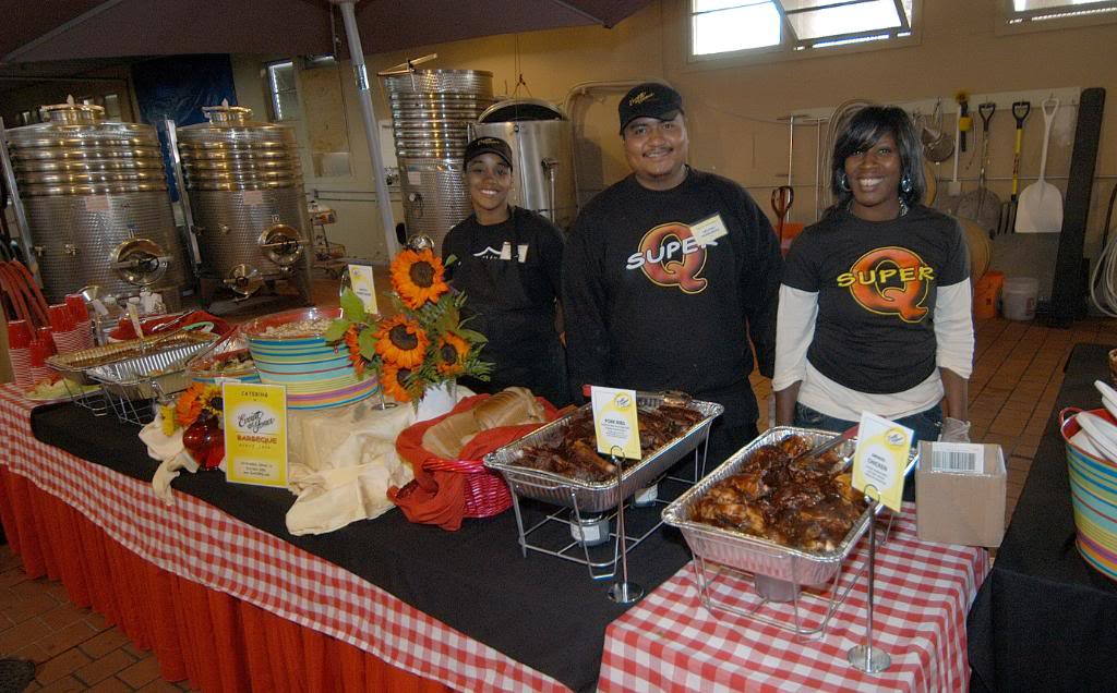 E and J staff serves your on-site catering
