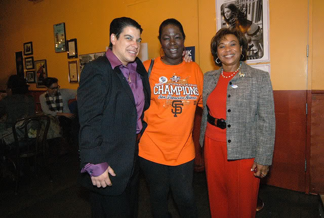 Congresswoman Lee and Rebecca Kaplan with Dorothy